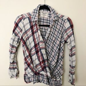 Women's Abercrombie & Fitch Twisted Flannel Shirt